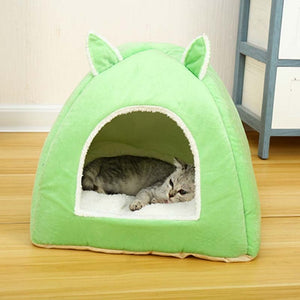 Foldable Cat Bed-pawproducts.net-Light Green-S-pawproducts.net