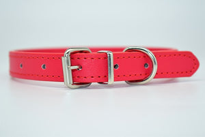 PU Leather Solid Soft Colorful Pet Dog Collar