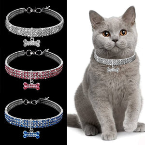 Safety Elastic Adjustable Cat collars-pawproducts.net-Blue-L-pawproducts.net