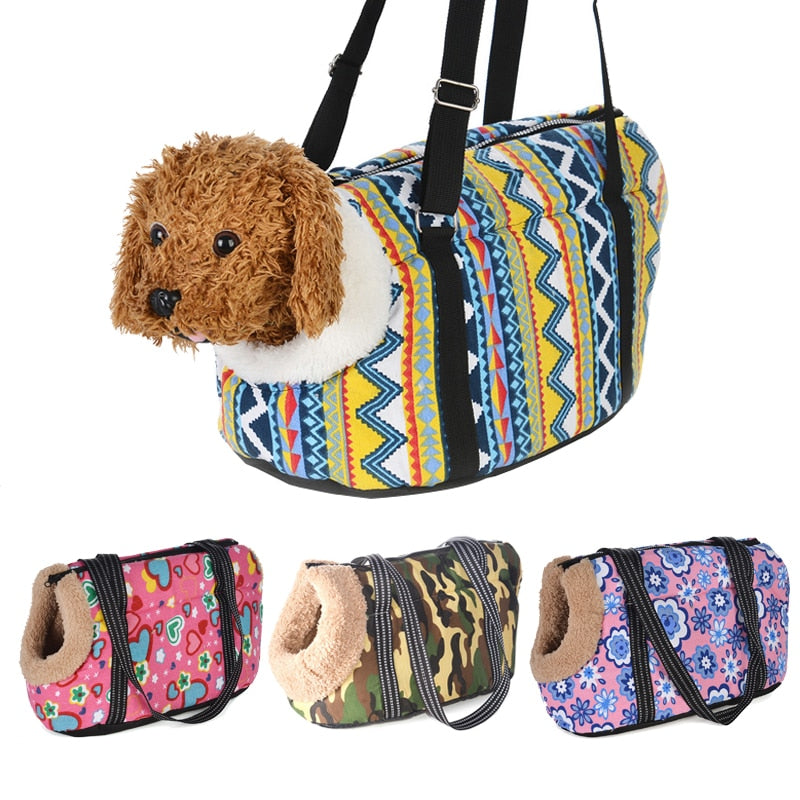 Classic Pet Carrier For Small Dogs-pawproducts.net-without fur-S 45 x 21 x 22 CM-pawproducts.net