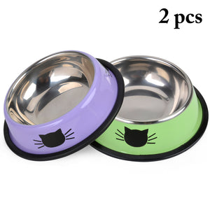 Product For Cat Bowl-pawproducts.net-Green Purple-pawproducts.net