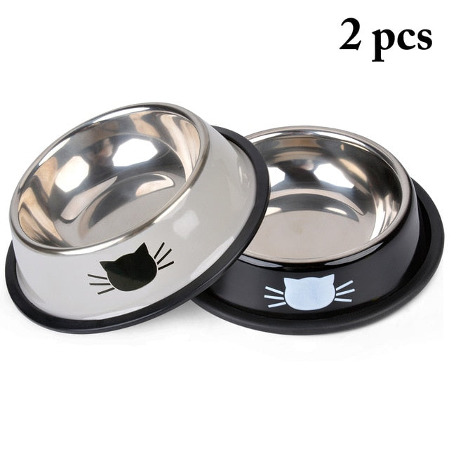 Product For Cat Bowl-pawproducts.net-Black Grey-pawproducts.net