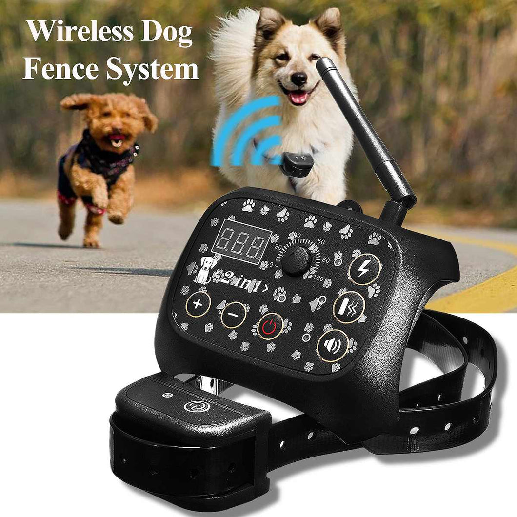 Electronic Wireless Remote Dog Training-pawproducts.net-US Plug-pawproducts.net