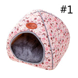 Pet Dog Bed & Sofa Houset-pawproducts.net-Style 1 pink-S-pawproducts.net