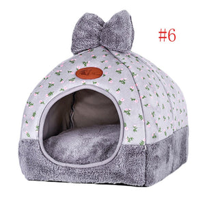 Pet Dog Bed & Sofa Houset-pawproducts.net-Style 1 grey 1-S-pawproducts.net