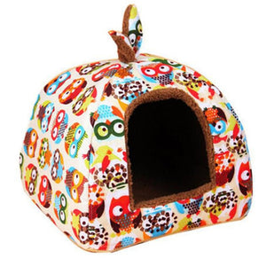 Pet Dog Bed & Sofa Houset-pawproducts.net-Style 2 owl-S-pawproducts.net