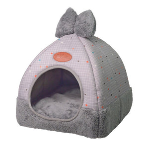 Pet Dog Bed & Sofa Houset-pawproducts.net-Style 1 grey1-M-pawproducts.net
