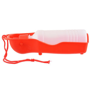 Pet Dog Water Bottle 250ml Foldable Portable Drinking Bottle-pawproducts.net-Red-250ml-pawproducts.net