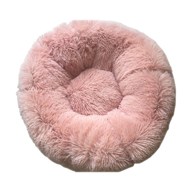 Round Plush Cat Bed-pawproducts.net-Pink-70X20CM-pawproducts.net