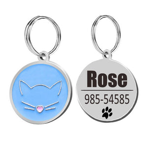 Cat ID Tags Cat Collar-pawproducts.net-blue-25x25cm-pawproducts.net
