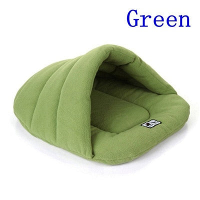 6 Colors Soft Polar Fleece Dog Beds-pawproducts.net-Green-L-pawproducts.net