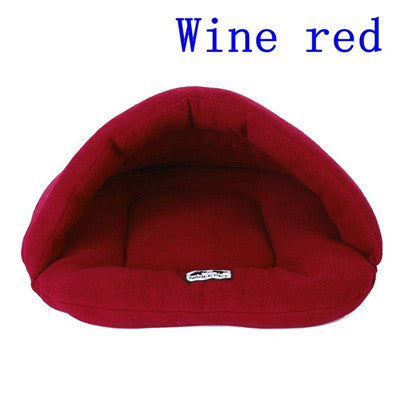 6 Colors Soft Polar Fleece Dog Beds-pawproducts.net-Winered-L-pawproducts.net