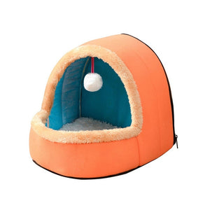 Puppy House with Toy Ball-pawproducts.net-Orange-S-pawproducts.net