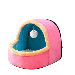Puppy House with Toy Ball-pawproducts.net-Pink-S-pawproducts.net