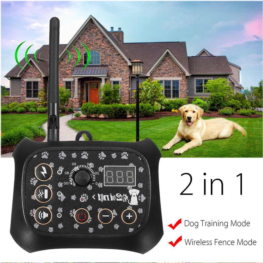 Safety Pet Dog Electric Wireless Remote Fence-pawproducts.net-China-EU Plug-pawproducts.net