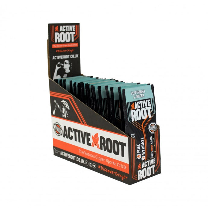 ACTIVE ROOT - GINGER AND PEPPERMINT - 20 Single Sachet Box