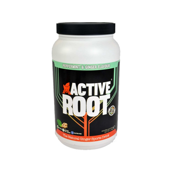 ACTIVE ROOT - PEPPERMINT AND GINGER FLAVOUR - 1.4KG MIX TUB (40 SERVINGS)