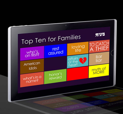 TOP TEN FOR FAMILIES SERIES (6/9-8/18/13)