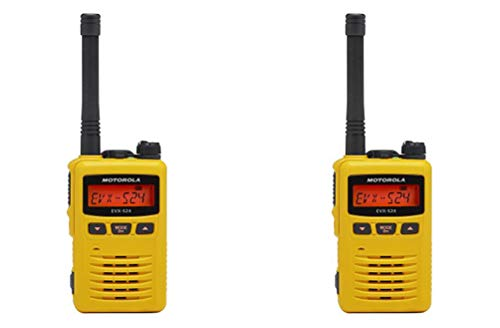 Motorola MEVX-S24-YL Yellow UHF 403-470MHz 3 Watt 256 Channel Analog/Digital DMR Portable Radio (2 Pack)