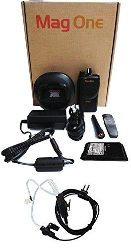 Motorola BPR40-U16 UHF 450-470mhz 4 watt 16 Channel Radio AAH84RCJ8AA1_N and Surveillance Headset