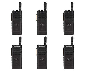 Motorola SL300-V-SC-99 VHF 136-174MHz 99 Channel 3 Watt Digital DMR Display Radio AAH88JCP9JA2AN (6 Pack)