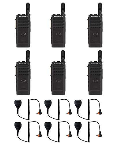 Motorola SL300-U-SC-99 AAH88QCP9JA2AN UHF 403-470MHz 99 Channel 3 Watt Digital DMR Display Radio with M4013 Speaker Microphone (6 Pack)