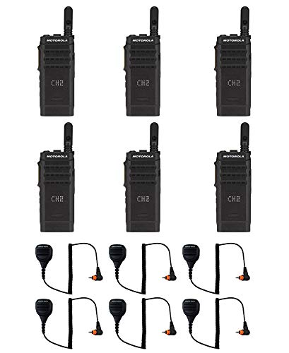 Motorola SL300-V-SC-99 VHF 136-174MHz 99 Channel 3 Watt Digital DMR Display Radio with M4013 Speaker Microphone AAH88JCP9JA2AN (6 Pack)