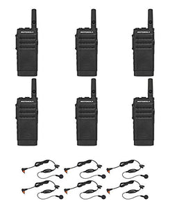 Motorola SL300-V-SC-2 VHF 136-174MHz 2 Channel 3 Watt Digital DMR Radio with PMLN7156 Earbud AAH88JCC9JA2AN (6 Pack)