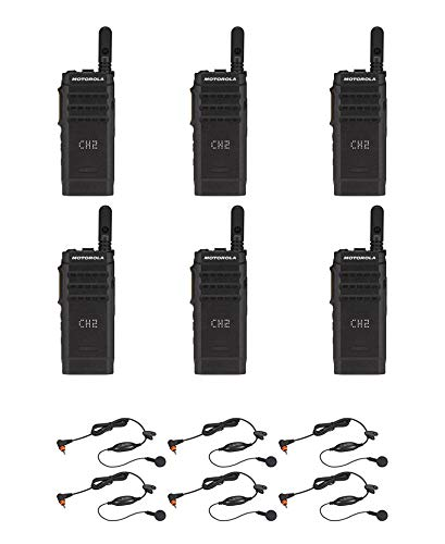 Motorola SL300-V-SC-99 VHF 136-174MHz 99 Channel 3 Watt Digital DMR Display Radio with PMLN7156 Earbud AAH88JCP9JA2AN (6 Pack)