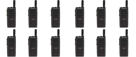 Motorola SL300-V-SC-99 VHF 136-174MHz 99 Channel 3 Watt Digital DMR Display Radio AAH88JCP9JA2AN (12 Pack)