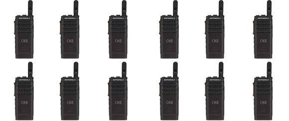 Motorola SL300-U-SC-99 AAH88QCP9JA2AN UHF 403-470MHz 99 Channel 3 Watt Digital DMR Display Radio (12 Pack)