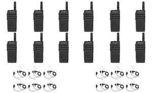 Motorola SL300-V-SC-2 VHF 136-174MHz 2 Channel 3 Watt Digital DMR Radio with E346 Surveillance Headset AAH88JCC9JA2AN (12 Pack)