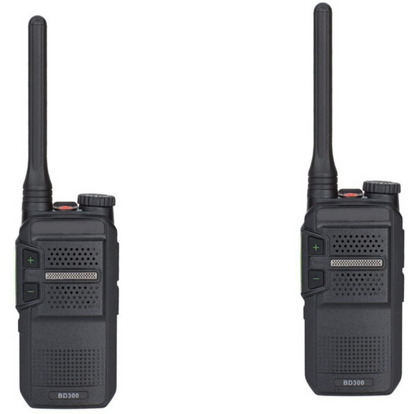 Hytera BD302i-U1 UHF 400-470MHZ 48 channel 3 zone 2 watt IP54 dual mode analog/digital DMR portable radio (2 Pack)