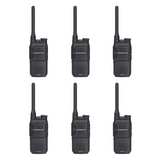Hytera BD302i-U1 UHF 400-470MHZ 48 channel 3 zone 2 watt IP54 dual mode analog/digital DMR portable radio (6 Pack)