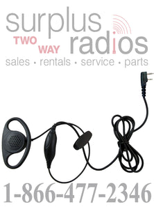 D ring shape earpiece with push to talk for Kenwood TK3160 TK2160 TK2170 TK2200 TK3360