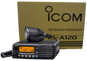 Icom A120 200 Channels VHF 118 - 136.975MHz Rugged Air Band Transceiver Mobile Radio (A110 Replacement)
