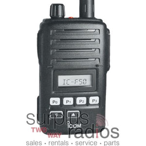 Icom F50 81 FM APPROVED waterproof VHF 5 watt 128 channel 136-174mhz
