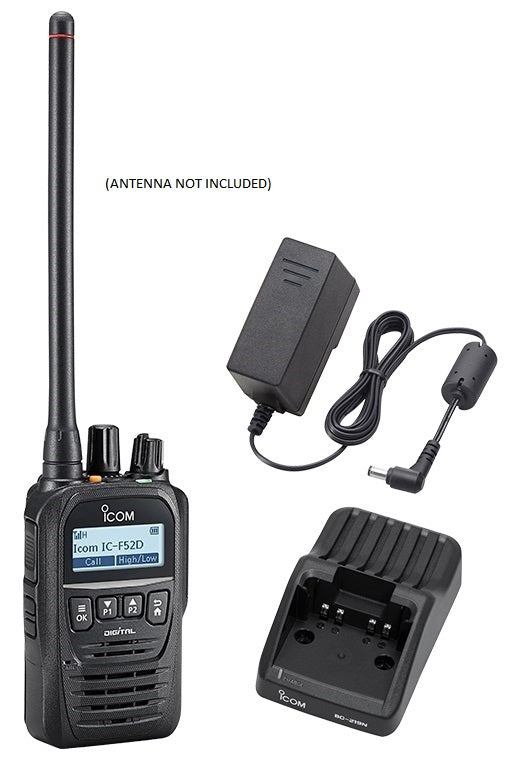 Icom F52D 5W 512CH IP67 Digital VHF 136-174MHZ IDAS Waterproof Radio with Charger