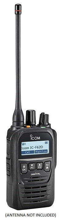 Icom F62D 21 4W 512CH IP67 Digital UHF 450-520MHZ IDAS Waterproof Radio