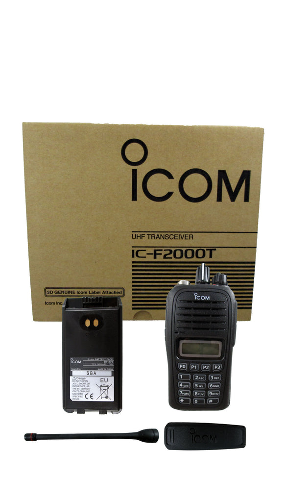 Icom IC-F2000T 09 4 watt 128 channel UHF 400-470mhz two way radio