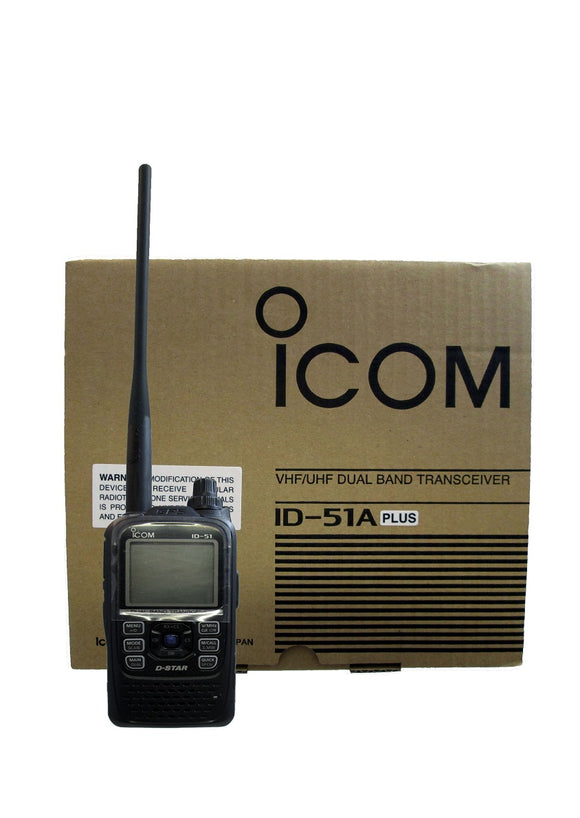 Icom ID51A PLUS 1304 channels 5 watt VHF/UHF Dual-Band D-STAR handheld transceiver with GPS