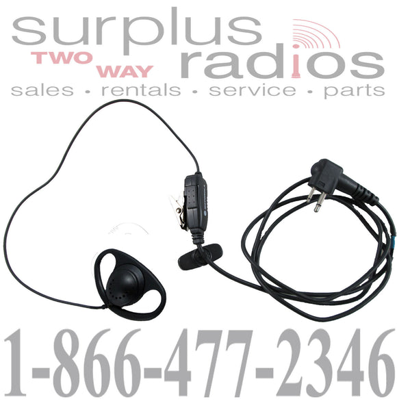 Motorola 56517 earpiece with inline microphone and PTT for CLS1410 CLS1110 DTR410 CP200
