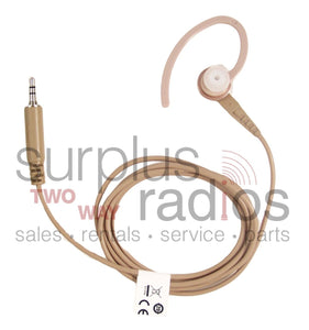Motorola BDN6664A beige receive only earpiece with standard earphone earloop for EX500 EX600XLS XTS3000 XTS5000