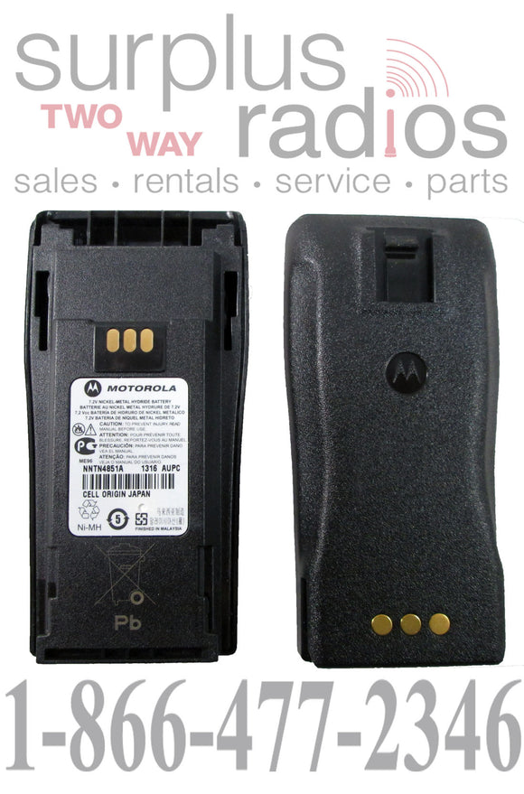 Motorola NNTN4851A 1400mAh ni-mh battery for CP150 PR400 CP200