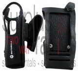 Motorola PMLN5019C leather holster for XPR series models with display