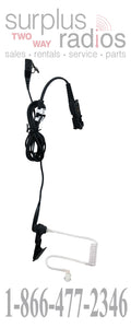 Motorola PMLN5724A black 2-wire surveillance headset kit for XPR3300 XPR3500