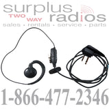 Motorola RLN6423B ear hook style swivel headset with in-line PTT for CLS1410 CLS1110 DTR410 CP200 RDU2020