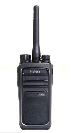 Hytera PD502i-V1 136-17 MHz VHF 5 watt 32 channel 3 zone dual mode digital/analog DMR portable radio with M1 audio