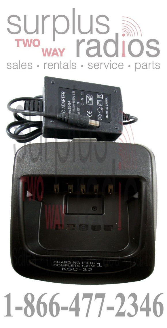 Rapid Charger for Kenwood Radios KSC-32 NX200 NX300 TK2180 TK3180 TK5210 NX410