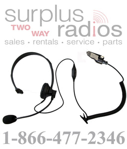 Single ear headset E348 K2 with push to talk and VOX for kenwood TK280 TK380 TK3180 TK3140 radios and more